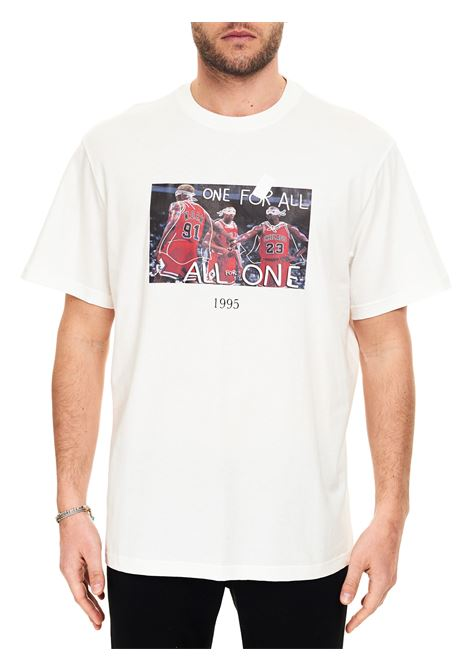 T-SHIRT BIANCA CON STAMPA CHICAGO BULLS FRONTALE IN COTONE THROWBACK | T-shirt | TBT45S2WHITE