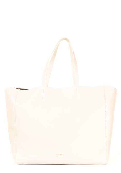 WHITE LEATHER SHOPPING BAG AMANDA MODEL VISONE | Bags | AMANDALEATHERBIGBIANCO