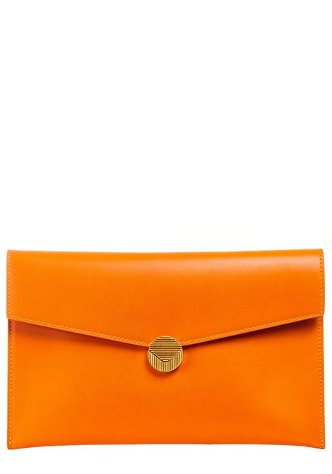 ORANGE LEATHER CLUTCH VISONE |  | PATTYLEATHERBIGARANCIO