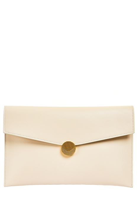 WHITE LEATHER CLUTCH VISONE |  | PATTYLEATHERBIGBIANCO