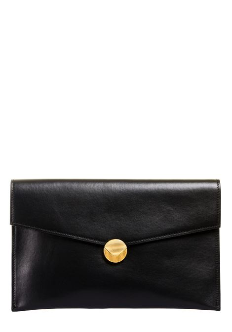 BLACK LEATHER CLUTCH VISONE |  | PATTYLEATHERBIGNERO