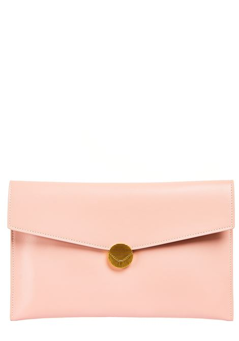 PINK LEATHER CLUTCH VISONE |  | PATTYLEATHERBIGNUDE