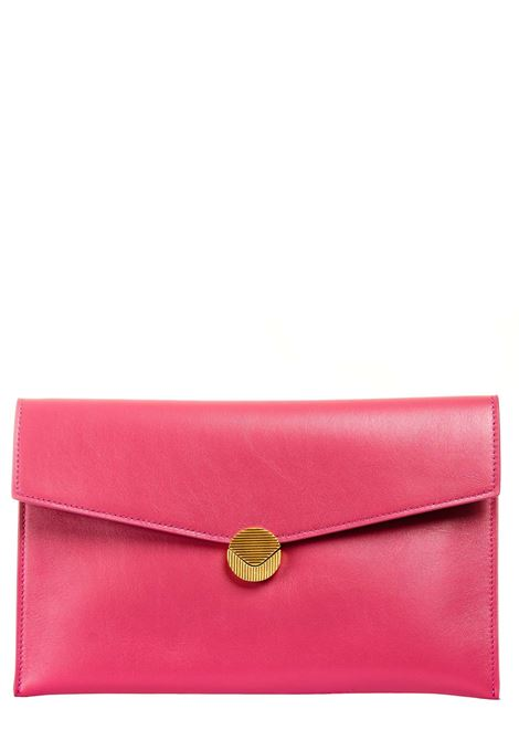 FUCHSIA LEATHER CLUTCH VISONE |  | PATTYLEATHERBIGPUNCH