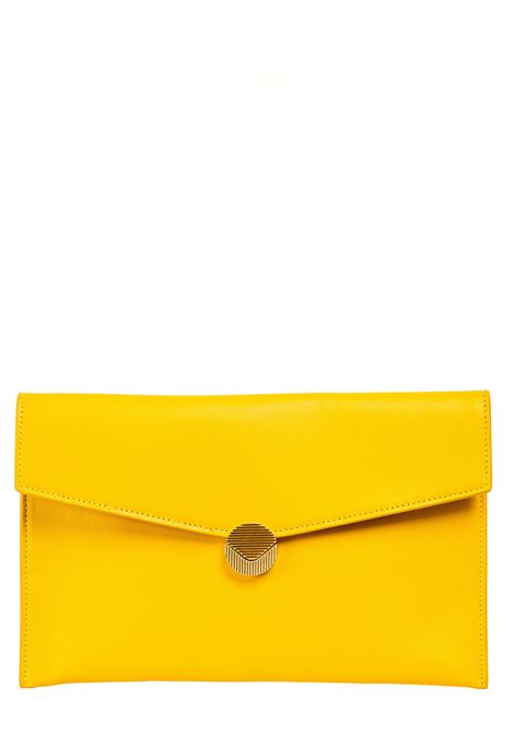YELLOW LEATHER CLUTCH VISONE |  | PATTYLEATHERBIGSOLEIL