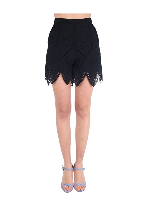 SHORTS NERI IN SANGALLO weili zheng | Shorts | SWZPS35NS2