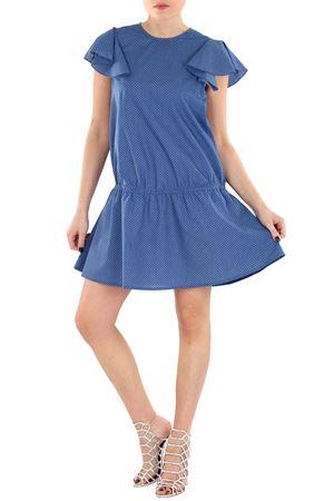 DRESS WITH PEPLUM DOU DOU | Dress | 1403582819