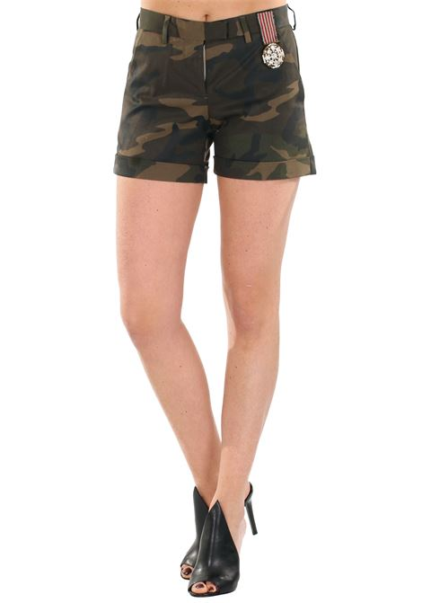 SHORTS IN COTONE L'EDITION | Shorts | LE0271CAMOUFLAGE