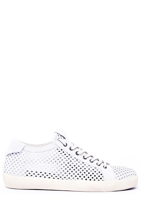 WHITE LEATHER SNEAKERS WITH TRANSPARENT DETAIL MODEL MLC361 LEATHER CROWN | Shoes | MLC361