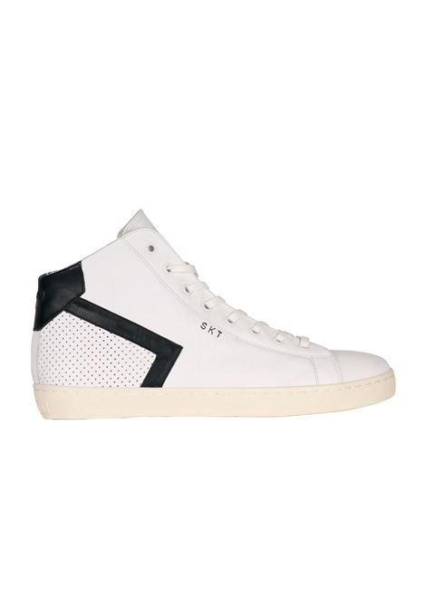 SNEAKERS IN CERVO LEATHER CROWN | Sneakers | MLC39BIANCO/NERO