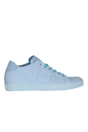 CALF SNEAKERS LEATHER CROWN | Sneakers | W136AZZURRO