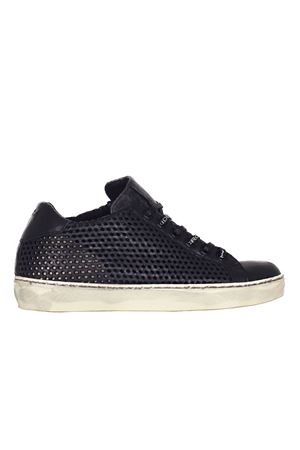 SNEAKERS IN CERVO TRAFORATO LEATHER CROWN | Sneakers | WLC831