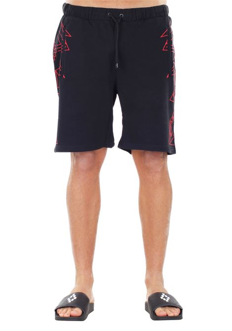 BERMUDA 'LAMBORGHINI' IN COTONE MARCELO BURLON | Shorts | CMCB026S170682781020BLACK/RED