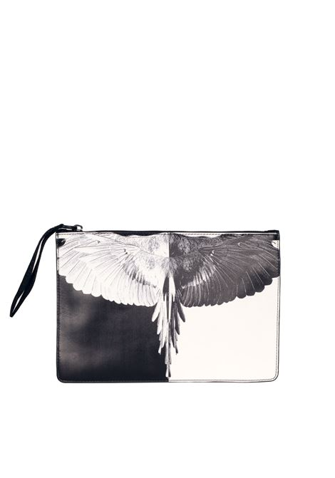 CLUTCH 'Aike' LEATHER MARCELO BURLON | Clutches | CWNA013S174302491001BLACK