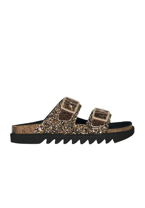 SLIPPER CORK TOWN | Slide Sandals | BONDI171TWBGKGLITTER/CRACKGOLD