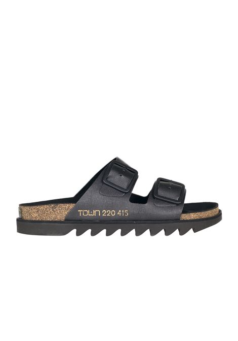 SLIPPER CORK TOWN | Slide Sandals | BONDI171TWBYSAFFIANOBLACK