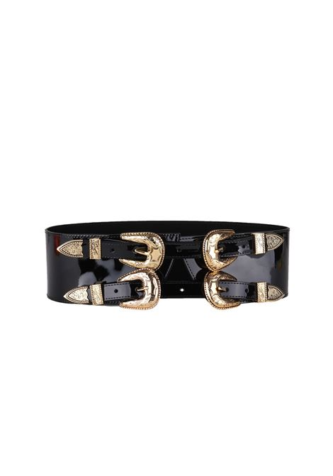 LEATHER BELT B-LOW THE BELT | Belt | BT1825BABYFRANKCORSETPATENTBLACK/GOLD