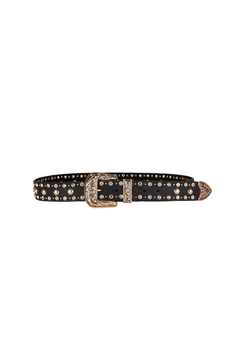 LEATHER BELT B-LOW THE BELT | Belts | BT7798SFRANKMOTOBLACK/GOLD