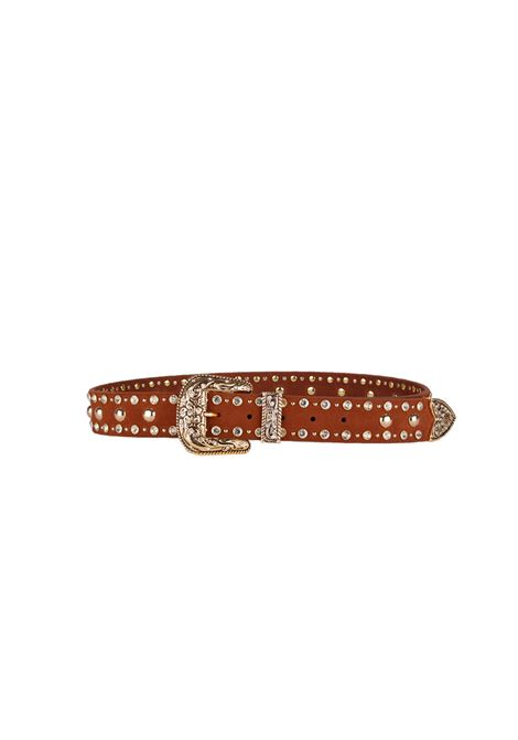 LEATHER BELT B-LOW THE BELT | Belt | BT7798SFRANKMOTOCOGNAC/GOLD
