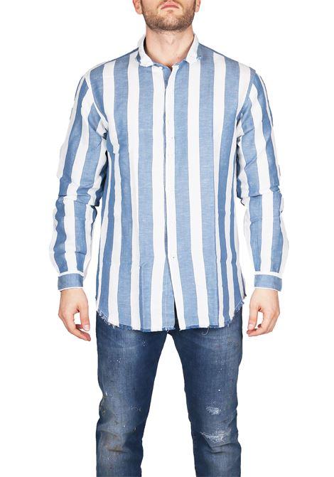 CAMICIA IN LINO E COTONE COSTUMEIN | Camicie | I12AZZURRO