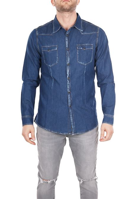 SHIRT IN DENIM DANIELE ALESSANDRINI | Shirts | C900038001111