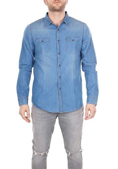SHIRT IN DENIM DANIELE ALESSANDRINI | Shirts | C900138001111