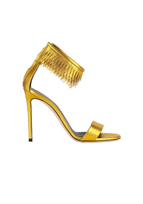 SANDAL IN LEATHER GREYMER | Sandals | 705110BENNYKISSGIALLO