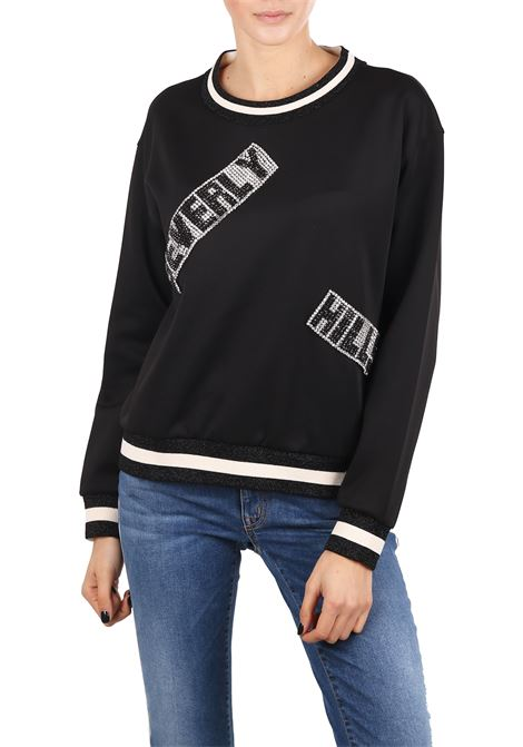SWEATSHIRT WITH APPLICATIONS L'EDITION | Sweatshirt | LE0448/R4999