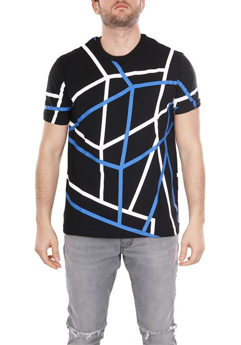 T-SHIRT WITH ALL-OVER PRINT LES HOMMES | T-shirt | URE800PUE8069017