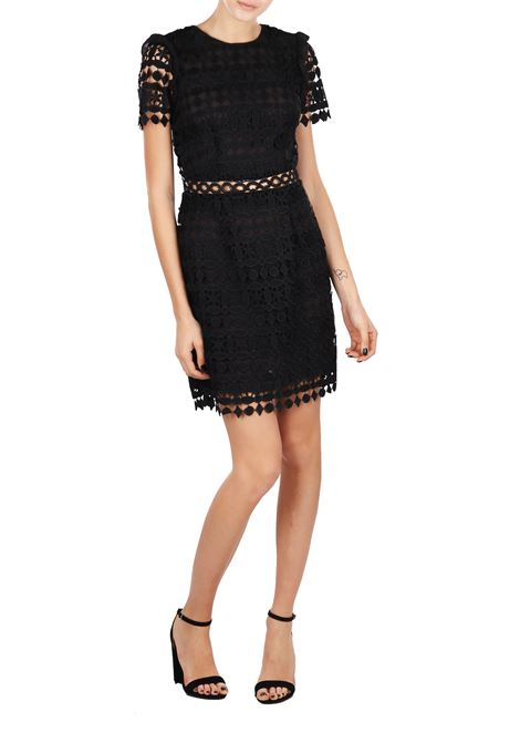 GEOMETRIC FLORAL LACE DRESS MICHAEL DI MICHAEL KORS | Dress | MS88XS78RT001