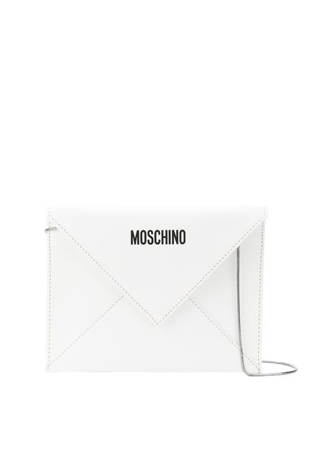 POCHETTE IN LEATHER MOSCHINO | Clutches | A844782161001