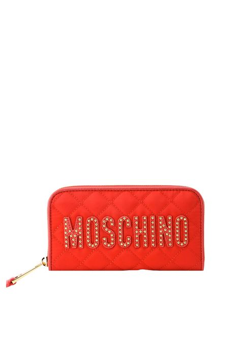 NYLON WALLET AND STUDS MOSCHINO | Wallets | B810182032115