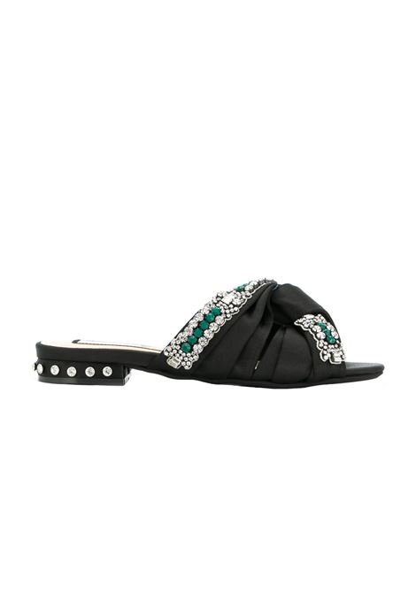 SLIPPERS IN SATIN N°21 | Sandals | N218E8713NERO