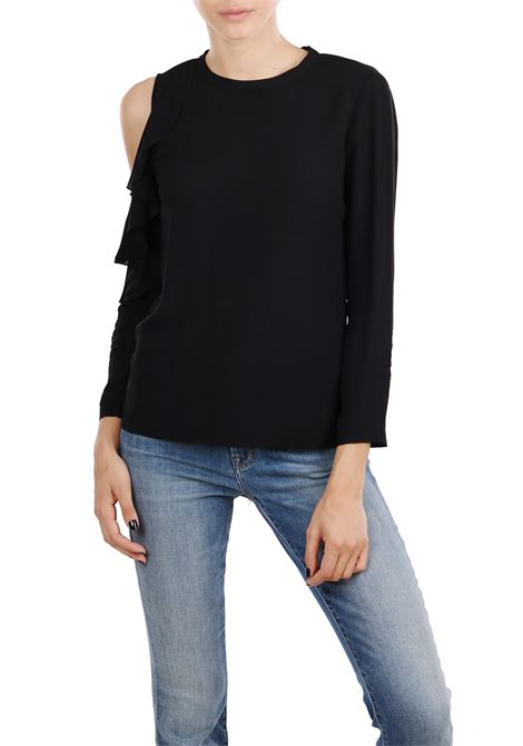 BLUSA WITH RUCHES PINKO | Blouse | FRULLARE1G136J6835Z99