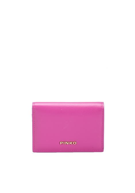 CARD HOLDER IN LEATHER PINKO | Card Holder | SBUFFO1P213KY4JTP30