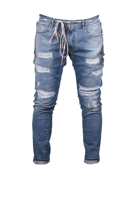 JEANS DENIM CHIARO REPRESENT | Jeans | REPAIRED DENIMJEANS