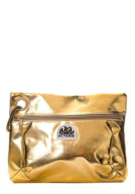 POCHETTE GOLD CON APPLICAZONE LOGO FRONTALE SUNDEK | Pochette | AW318ABPU7LA101