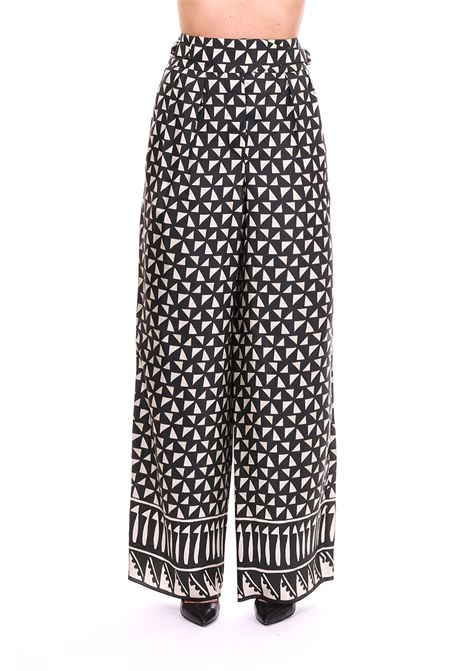 SKIRT PANTS IN PRINTED HABOTAI ALBERTA FERRETTI | Pants | 031216401555