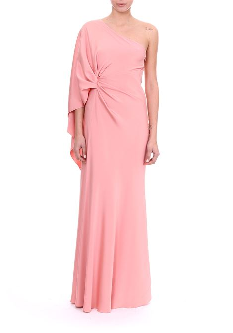 LONG ONE-SHOULDER DRESS IN STRETCH CADY ALBERTA FERRETTI | Dress | 04064225147