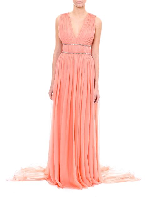 LONG DRESS IN SILK CHIFFON ALBERTA FERRETTI | Dress | 04114214147