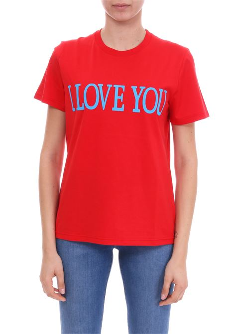 I LOVE YOU COTTON JERSEY T-SHIRT ALBERTA FERRETTI | T-shirt | 07060172J0111