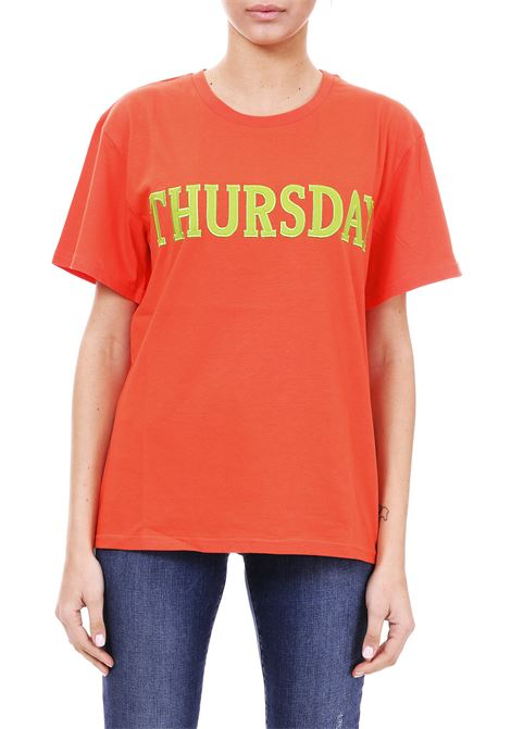 T-SHIRT ''THURSDAY'' IN JERSEY DI COTONE ALBERTA FERRETTI | T-shirt | 07081672127