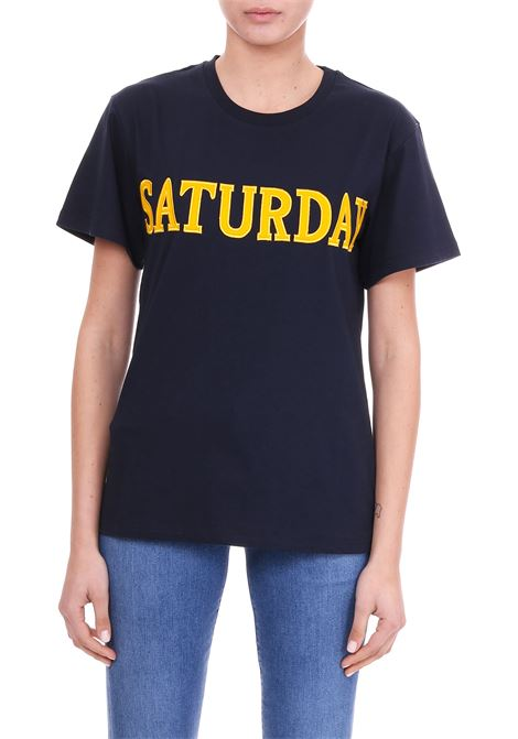 T-SHIRT '' SATURDAY '' IN COTTON JERSEY ALBERTA FERRETTI | T-shirt | 07081672290