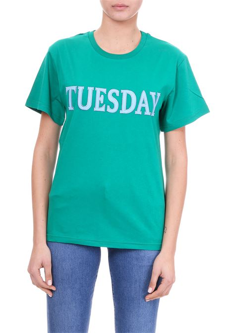 T-SHIRT ''TUESDAY'' IN JERSEY DI COTONE ALBERTA FERRETTI | T-shirt | 07081672J0370