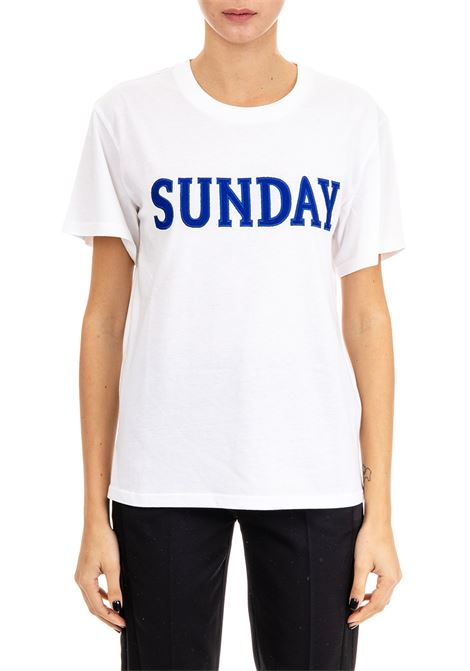 T-SHIRT '' SUNDAY '' IN COTON JERSEY ALBERTA FERRETTI   T-shirt   070816722
