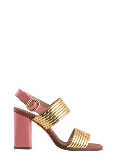 DULINA SANDAL IN GOLD LAMINATE ALBERTO GOZZI | Sandals | DULI268LAMORO