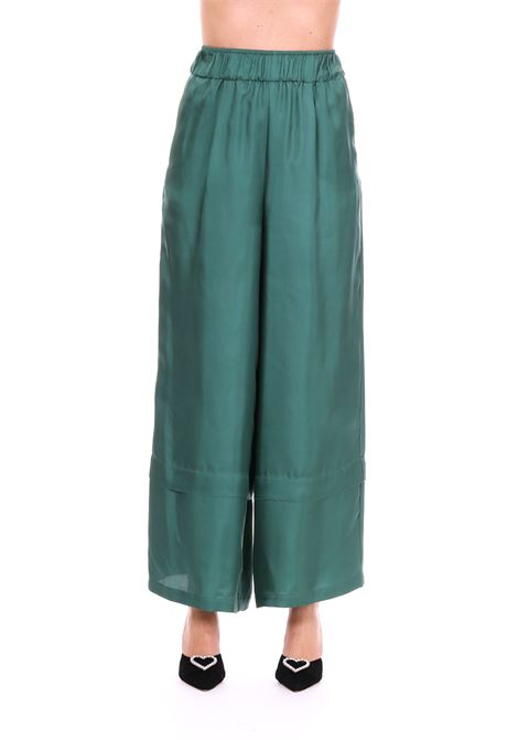 TWILL SILK TROUSERS ALYSI | Pants | 109170P9244VERDE