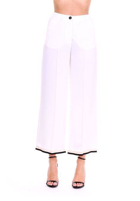 FLUID TROUSERS WITH GROS GRAIN ALYSI | Pants | 109189P9240BIANCO
