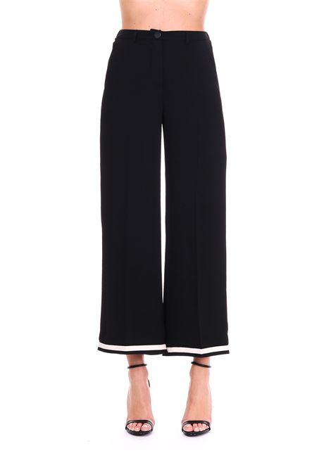 FLUID TROUSERS WITH GROS GRAIN ALYSI | Pants | 109189P9240NERO