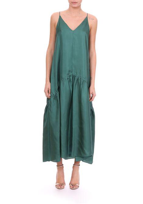 4f11548829b2d9 LONG DRESS IN GREEN SILK TWILL ALYSI | Dress | 109350P9244VERDE