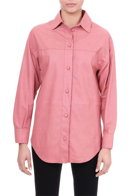 SHIRT IN PINK NAPPA ALYSI | Shirts | 209202P9057PEONY